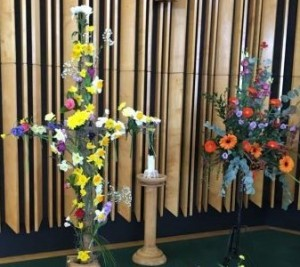 Easter Flowers on Cross